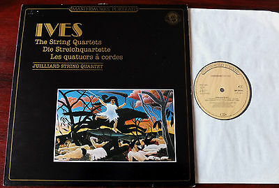 Cbs Mp 39752 Ives The String Quartets Lp Juilliard Nm Holland (1985) Rec 1967