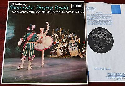 Decca Sxl 6187 Tchaikovsky Swan Lake Sleeping Beauty Lp Karajan Nb Ex++ England