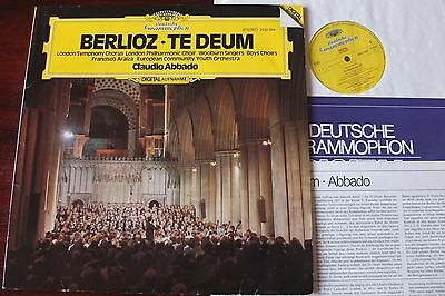 Dg 2532044 Berlioz Te Deum Lp Abbado Nm- Dig West Germany