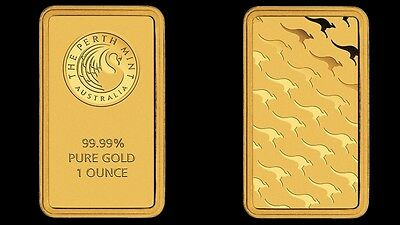 1 Oz Perth Mint Finished In 999 24K Gold Bar - Collector -Hard To Find One Rare