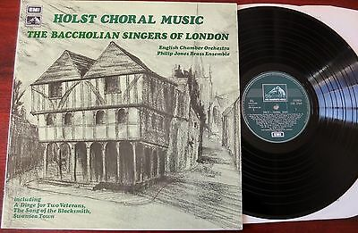 Hmv Csd 3764 Holst Choral Music Lp Baccholian Singers Nm- Gt Britain