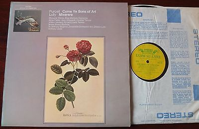 L'oiseau Ols 102 Purcell Come Ye Sons Of Art Lp Lewis Ex (1971) Rec 1958 Lully