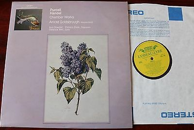 L'oiseau Ols 144 Purcell Handel Chamber Works Lp Goldsbrough Harpsichord Vocal
