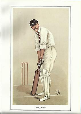 Vanity Fair CRICKET print - CAPTAIN EDWARD WYNYARD - HAMPSHIRE