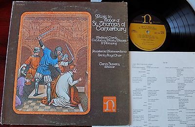 Music For St Thomas Of Canterbury Lp Stevens Trinity Boys Nonesuch H-71292 Nm-