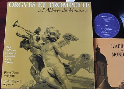 Organ & Trumpet At L'abbaye De Mondaye Lp Dutot Pagenel France Nm- +Booklet