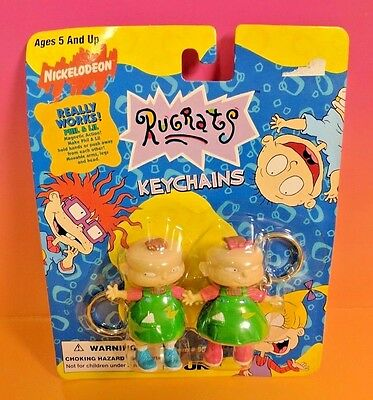 Nickelodeon Rugrats Phil and Lil Magnetic Keychains Brand New Rare