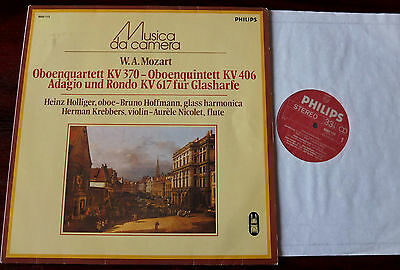 Philips 6503 113 Mozart Oboe Qutet/qntet Lp Holliger Nm- Holland (1983) Rec 1977