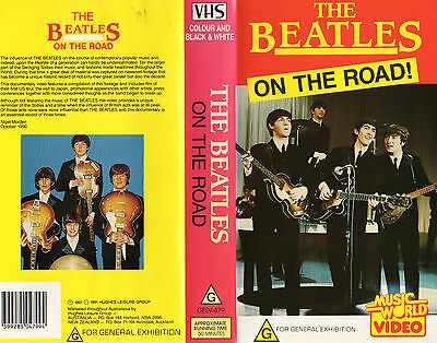 THE BEATLES -ON THE ROAD! -VHS -PAL -NEW & SEALED! -Never played! - VERY RARE!!!
