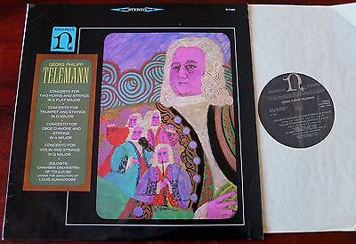 Telemann Horn Trumpet Oboe Violin Concs Lp Auriacombe Nonesuch H-71066 Nm Uk
