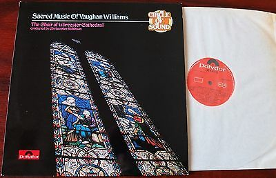 Vaughan Williams Sacred Music Lp Worcester Cathedral Robinson Polydor (1974) Nm