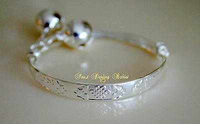 ** Baby Child Silver Bangle  *  / Adjustable / Bracelet / Anklet/ Baby **