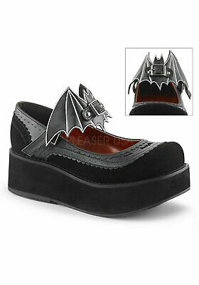 4b4fb779050e9 DEMONIA SPRITE-09 2 1/4 Inch Platform Mary Jane With Bat On Ankle ...