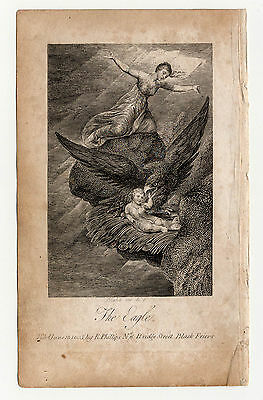 William Blake. The Eagle. Original engraving for Hayley's Ballads. 1805