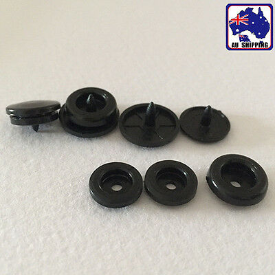 100 Sets Plastic Snaps Dia 12mm 14mm Fastener Buttons Press Stud Set CKBU562