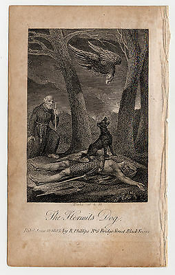 William Blake. The Hermit's Dog. Original engraving for Hayley's Ballads. 1805