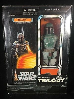 "Star Wars 2004 Trilogy Collection 12"" Inch BOBA FETT grey suit variant MISB"