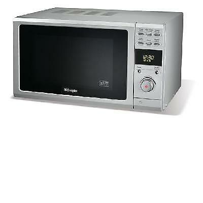Dimplex 800watt Microwave Silver 20 litre 5 Power Levels, Push Button Door