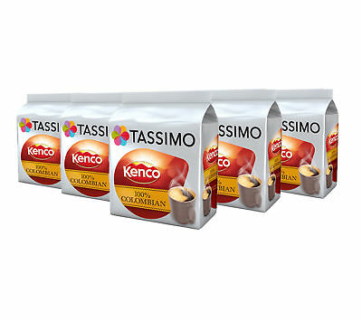 TASSIMO Kenco Colombian Coffee Capsules Pods Refills T-Discs Pack of 5, 80 Dr...