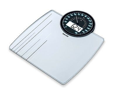 Beurer 76610 GS58 Driver's Dual Display Glass Bathroom Premium Weight Scale