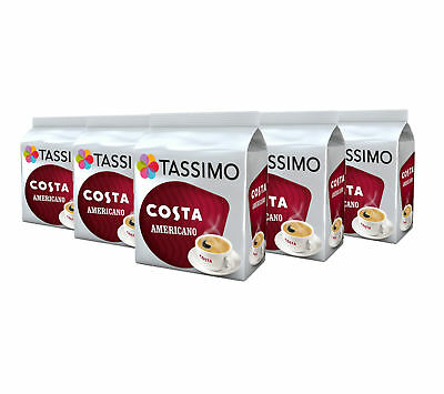 TASSIMO Costa Americano Coffee Refill T-Discs Pods Capsules Pack of 5, 80 Drinks