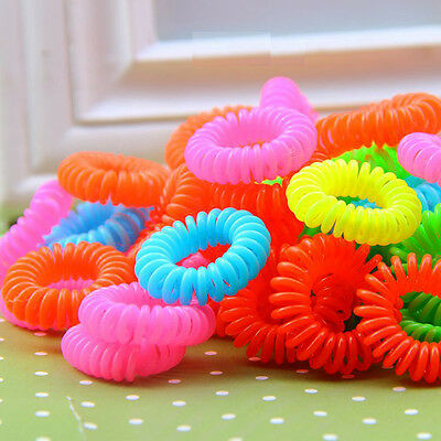 12pcs Hair Ties Band New Elastic Ponytail Holder Rubber Simple Girl Rope