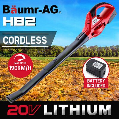 NEW Baumr-AG 20V Lithium Cordless Leaf Blower Electric Hand-held Garden Tool