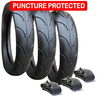 Jane Slalom Pro Replacement Tyres & Inner Tubes, PUNCTURE PROTECTED - Set of 3