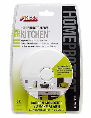 Kidde 10 Year Sealed HomeProtect Smoke Fire & Carbon Monoxide Kitchen Alarm