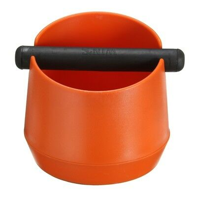 Coffee Espresso Grounds Knock Box W Handle Slag Bucket Grinds Tamper Waste Bin
