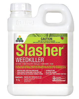 Slasher - Registered Organic Herbicide - Controls Weeds, Moss & Algae