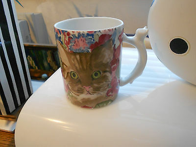 Minou-Ettes By C. Pradalie Cat Mug/cat Handle-1985 Issue-Vg+