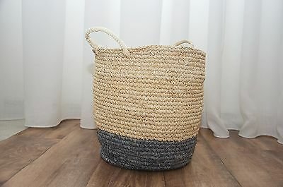 FREEDOM Bright Band Handle Small Basket in Grey