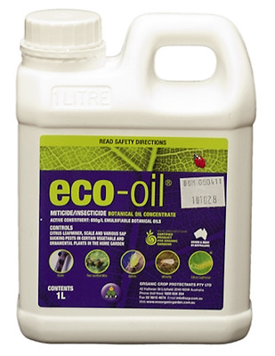 Eco-oil - Organic Miticide and Insecticide - Control aphids, mite, whitefly..