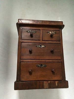 Edwardian Miniature Chest Of Drawers