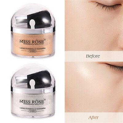 MISS ROSE Oil-control Beauty Makeup Loose Finishing Powder Foundation W/Brush