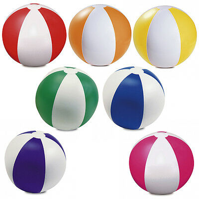 12 x COLOUR INFLATABLE BLOW UP BEACH BALL PARTY FUN WATER SWIMMING POOL BALL
