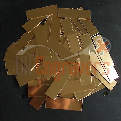 100 X Blank Trophy Plaques Suitable For Engraving Self Adhesive Plate