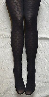 2 X Pairs Black Diamond Tights 7-8 10-12 Years Girls School Quality Sheer Opaque