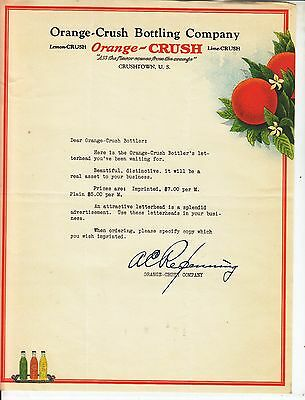 Orange-Crush Bottling Company   Letterhead   Crushtown, U. S.