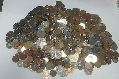 10 LBS of Foriegn Coins nice mix of Foreign Coins #1