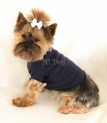 S Navy Short sleeved Dog T - Shirt clothes pet apparel clothing Small PC Dog®