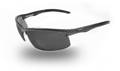 NEW ICICLES Cylinder Smoke Mirror Lens Sunglasses with Carbon Fiber Frame