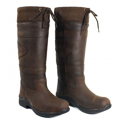 Toggi Canyon Waterproof Long Country Boots Leather Riding Brown REDUCED