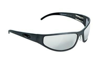 NEW ICICLES Bagger Flat Transition Mirror Lens Sunglasses with Matte Black Frame
