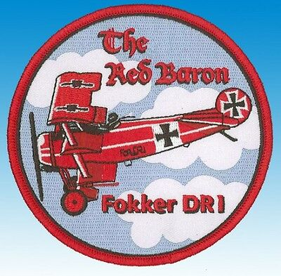 """Patch écusson Fokker DR1 """"The Red Baron"""""""