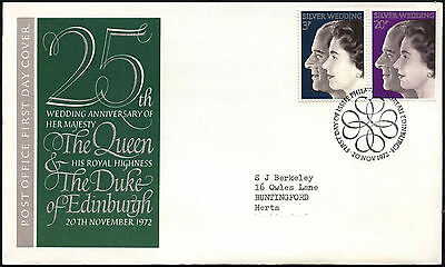 GB FDC 1972 Royal Silver Wedding, Philatelic Bureau H/S #C41043