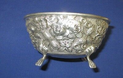 Schofield Co. Baltimore Rose Sterling Silver Repousse' Footed Bowl