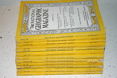 1951 Complete Year of National Geographic Magazine w/ all maps US/World/Asia