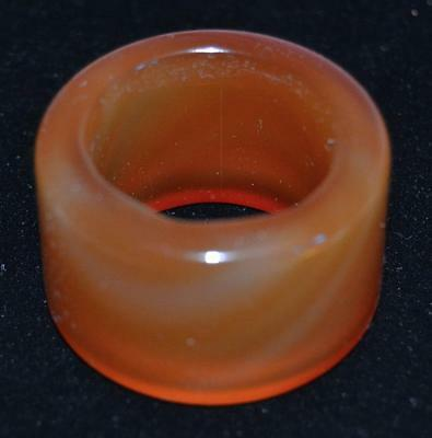 Vintage 1920s Chinese Agate Archers Ring